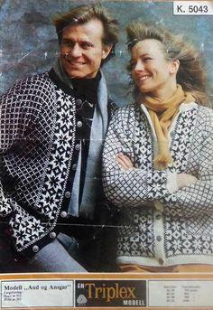 Aud og Ansgar 5043 Norwegian Knitting, Knitting Machine Patterns, Fair Isle Knitting, Scandinavian, Textiles, Crochet, Sweaters, Craft Ideas, Vintage