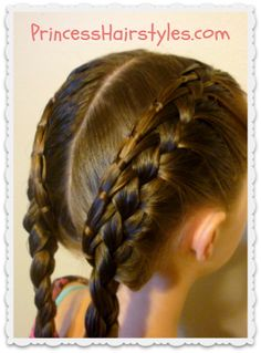 Cinch knot feather braid pigtails tutorial
