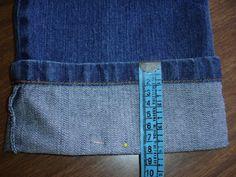 OS MELHORES ARTESANATOS: Passo a passo barra de calça jeans original