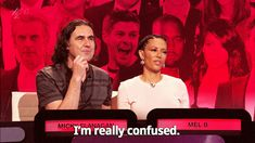 sandandglass:  Mel B is baffled by Richard Ayoade.