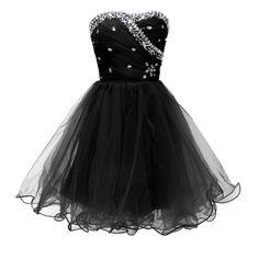 Short Black/White Masquerade Prom Ball Gown Cocktail GraduationParty Dress Girls | eBay