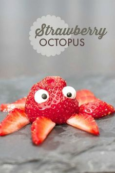 Turn you snacks into playful sea creatures.