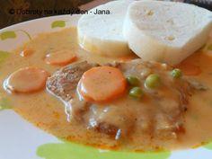 Bratislava No Salt Recipes, Meat Recipes, Cooking Recipes, New Menu, Bratislava, Ravioli, No Cook Meals, Cheeseburger Chowder, Soup