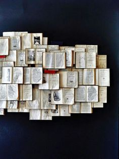 Books collage art