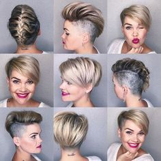 Short hair is not versatile they said No matter how many times people try to criticize you the best revenge is to prove them wrong. #salirasahaircut #girlscareabouthair #wickeddopehair #wickeddopePixie #nbp #beehash #uptheanteorfuckingfold #shorthairbraids #cabelocurto