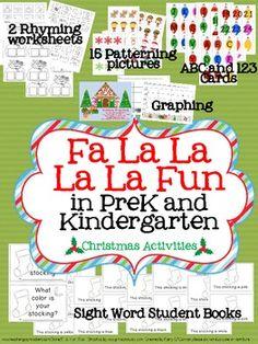 FaLaLaLaLa Fun - Christmas Activities for Prek and K!