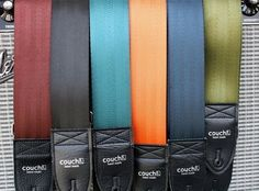 Recycled seatbelt guitar straps by Couch | UniQ-Eco