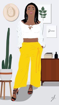 My AFRO - kaans Maaitjie. Afro, Illustrations, Creative, Design, Fashion, Moda, Fashion Styles, Illustration, Illustrators