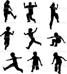Image detail for -Silhouettes of children jumping | Stock Vector © nebojsa78 #3144859