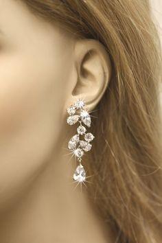 Bridal Earrings Cubic Zirconia Earrings Wedding by simplychic93