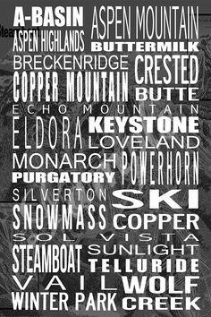 Customizable Colorado Ski Resort Printable by BonTempsBeignet, $25.00