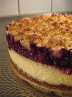 Excellent-eten.nl: Cheesecake met roodfruit en kruimellaag