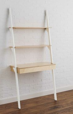 Metro Ladder Shelf with Desk | Contemporary desk, Office spaces ...