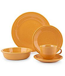 Marigold Fiestaware ...with the special 75th Anniversary color...