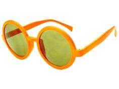 Womens Vintage Retro Style Circle Round Sunglasses Orange R645