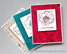 Stamping + Foil Video by Jennifer McGuire Ink