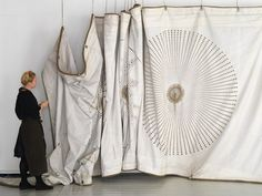 Grethe Wittrock / Sail Art  (2011) Stitching on old sails