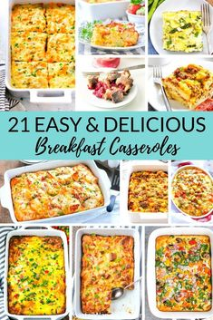 Looking for a delicious and easy breakfast idea? Try these 21 breakfast casserole recipes! Whether you love hash browns tater tots sausage bacon or something a little sweeter like french toast this recipe round-up has you covered! Breakfast Toast, Breakfast For Dinner, Breakfast Ideas, Group Breakfast, Christmas Breakfast, Morning Breakfast, Brunch Ideas, Easy Breakfast Casserole Recipes, Brunch Recipes