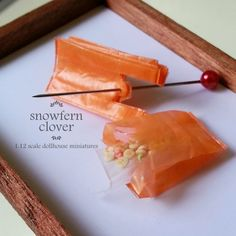 Snowfern Clover - miniature foods 1:12, 1:24 & 1:48 dollhouse scale