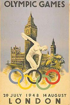 El afiche oficial de los XIV JJ.OO. Modernos
