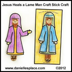 Bible Craft for Jesus Heals the Lame Man Sunday School Lesson on www.daniellesplace.com