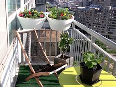 Chicago Balcony Garden by Interior Designer MatterAndOrder.com