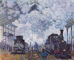 Claude Monet. Gare Saint-Lazare, départ de train. 1877. 82x101 cm. Harvard University Art Museum.