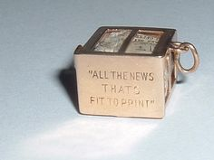 NY Times newspaper box - opens up to newspaper Pandora Bracelet Charms, Charm Bracelets, Mourning Jewelry, Silver Charms, Charm Jewelry, Newspaper Search, Times Newspaper, Vintage Jewelry, Spanish Dancer