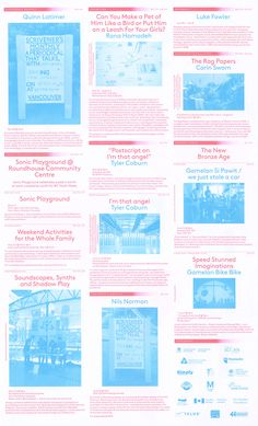 The 2014 edition of Western Front's events calendars. Distributed at locations…