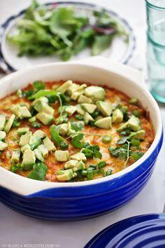 Memorial Day Whole Grain Recipes: Chicken Enchilada Quinoa Casserole | @Marla Landreth Landreth Meridith   #memorialday #wholegrainholiday
