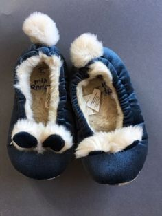 MINI-BODEN-RABBIT-BLUE-VELVET-BUNNY-RABBIT-SLIPPERS-SIZE-25-UK-EU-8-5-US