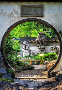 Yuyuan Garden, located in the center of the Old City in Shanghai, | http://bestoutdoorlivingrooms.blogspot.com
