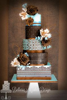 Such a unique wedding cake!