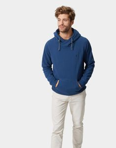 Harmon Sea Blue Hooded Sweatshirt  | Joules US