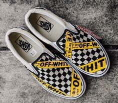 db159440cb0afc Vans Checkerboard Slip-On X Off White (Premium) Size  (EU) Dm me or  whatsapp 60168577712 to order or for more information Feel free to request  any sneakers ...