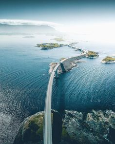Ocean Road - Have you been to Norway or is it on your bucket list? 🇳🇴 I hope you are ready for the scenic route! This road in Norway really… Places To Travel, Travel Destinations, Places To Visit, European Road Trip, Phantom 4, Dubai, Norway Travel, Norway Roadtrip, Destination Voyage