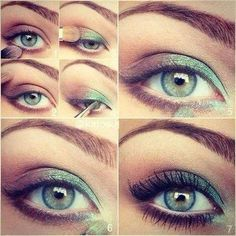 tuto maquillage yeux verts marrons modèle tendance