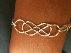 Double infinity bracelet, Infinity bangle, sterling silver bracelet, bracelet, handcrafted bracelet on Etsy, $24.99