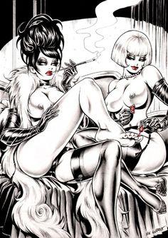 Magenta & Lucrezia by illustrator Nik Guerra.