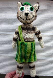Virkkausta ja värkkäystä: Virkattu Viiru-kissa Cat Pattern, Cute Crochet, Handicraft, Diy And Crafts, Teddy Bear, Katt, Toys, Animals, Craft