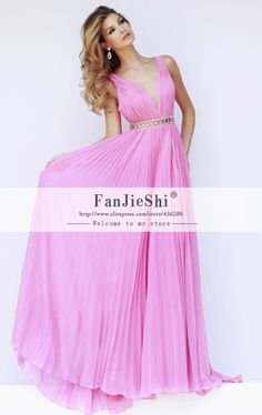 Find More Evening Dresses Information about New Fashion Sexy V Neck Floor Length Sleeveless Beading Backless Chiffon A Line Long High Quality cheap Evening Dresses 2015,High Quality dresses evening long,China evening dress dinner Suppliers, Cheap evening dress shawl from Suzhou FanJieShi Wedding Dress Co., Ltd. on Aliexpress.com