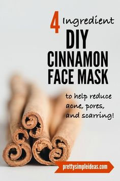 mask for pores clear skin Easy DIY Cinnamon Face Mask for acne! This homemade face mask is also great for scars, for pores, and for wrinkles. It's made with just 4 simple ingredients too. I use it once a week for clear, bright skin. Face Mask For Pores, Acne Face Mask, Diy Face Mask, Face Face, Cinnamon Face Mask, Pore Mask, Face Mapping, Bright Skin, Homemade Face Masks