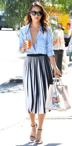 Look of the Day - August 15, 2015 - Jamie Chung Leaves Clover Juice in West Hollywood from #InStyle