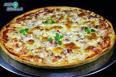 Pizza expres sin reposo / -220 gr. harina normal. -1 cta. levadura tipo Royal. -1 cta. orégano. -1 cta. sal. -50 gr. aceite oliva suave. -75 gr. agua #masas