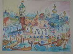 venice, watercolor...hint...hint....v. cool to take one of our fav pics and do a painting...