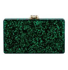Edie Parker emerald clutch