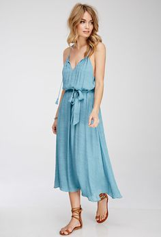FOREVER 21 Textured Crepe Maxi Dress