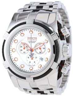 Invicta Men's Bolt 14065 -- You can find out more details at the link of the image. (This is an Amazon Affiliate link) Stainless Steel Watch, Casio Watch, Chronograph, Omega Watch, Watches, Silver, Amazon, Accessories, Link