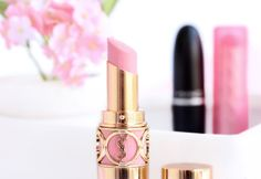 Date-Night Pink Lips / YSL Rouge Volupte lipstick in #07 Lingerie Pink #makeup #beauty
