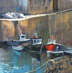 Margaret Evans Harbour Lights II. Pastel & Gouache   Scottish Contemporary Art
